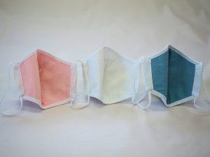 マスク色比較(ピンク/ホワイト/ブルー)